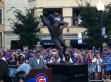 Santo statue outside of Wrigley