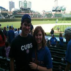 Chris Jelinek Cubs game prosecard photo